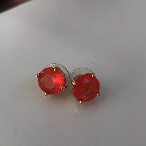 🔵 Kate Spade Gum Drop Earrings in Pink/Orange